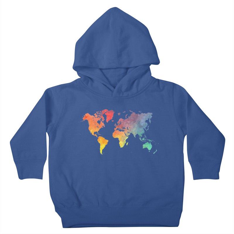 world map Kids Toddler Pullover Hoody by jbjart Artist Shop