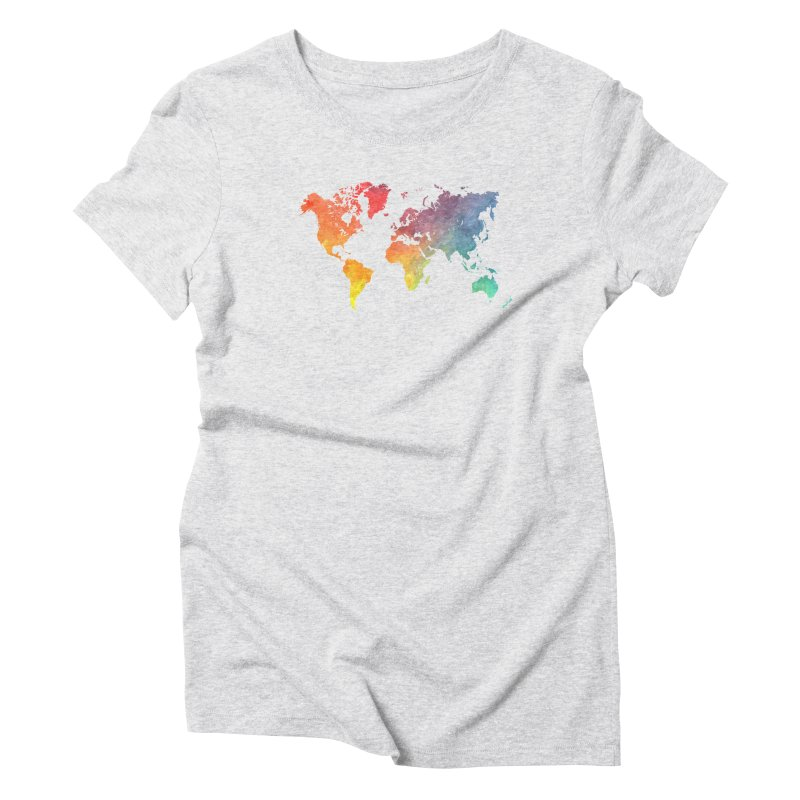 world map Women's T-Shirt by jbjart Artist Shop