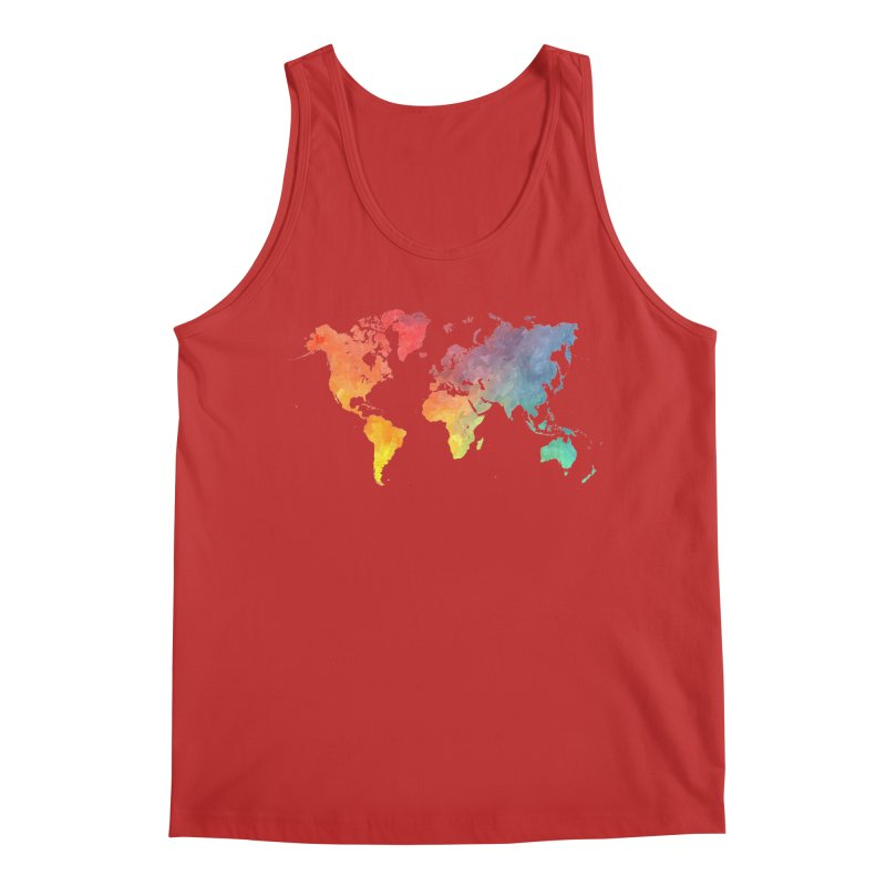 world map Men's Regular Tank by jbjart Artist Shop