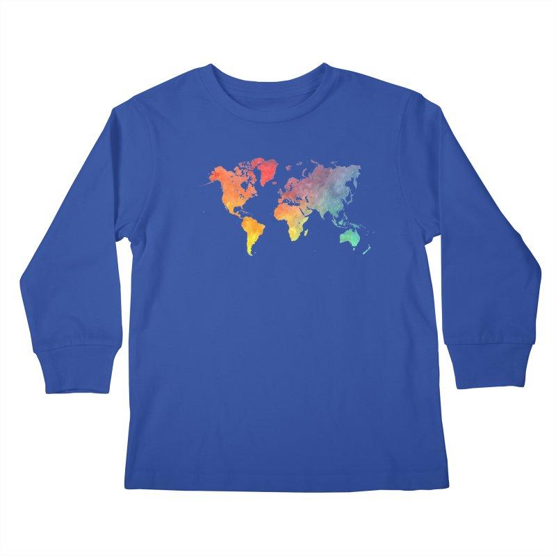 world map Kids Longsleeve T-Shirt by jbjart Artist Shop
