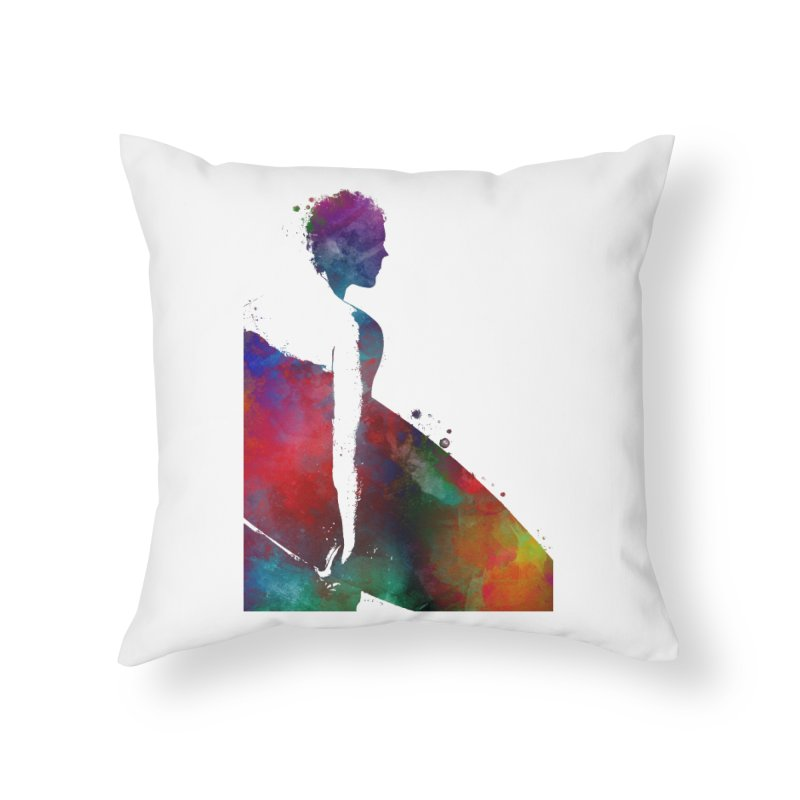 Surfer sport art #surfer #sport Home Throw Pillow by jbjart Artist Shop