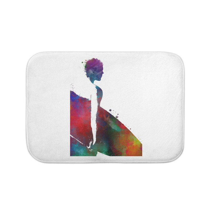 Surfer sport art #surfer #sport Home Bath Mat by jbjart Artist Shop