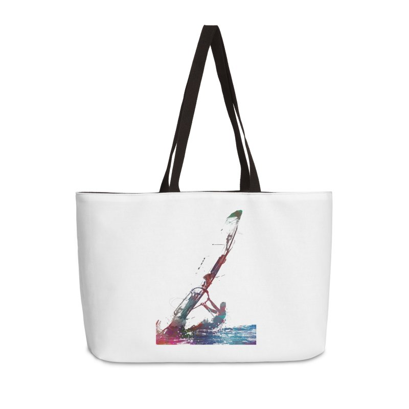 windsurfing sport art #windsurfing #sport Accessories Weekender Bag Bag by jbjart Artist Shop