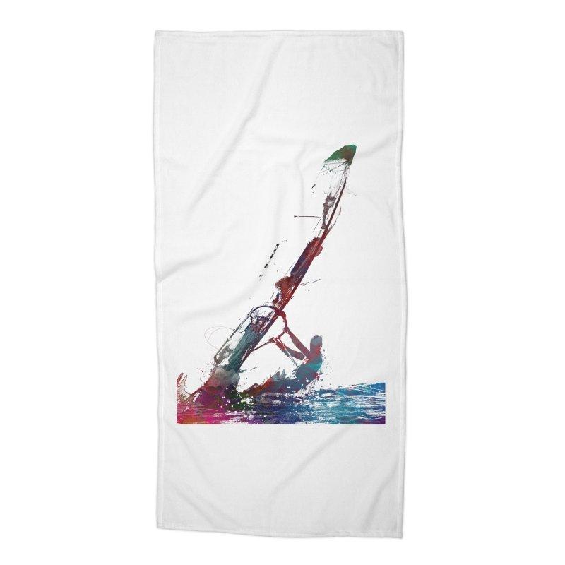 windsurfing sport art #windsurfing #sport Accessories Beach Towel by jbjart Artist Shop