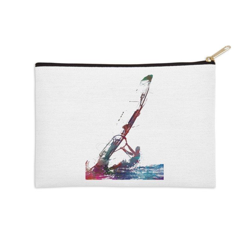 windsurfing sport art #windsurfing #sport Accessories Zip Pouch by jbjart Artist Shop