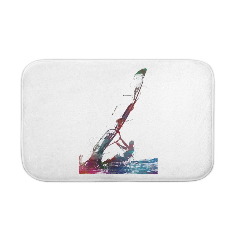 windsurfing sport art #windsurfing #sport Home Bath Mat by jbjart Artist Shop