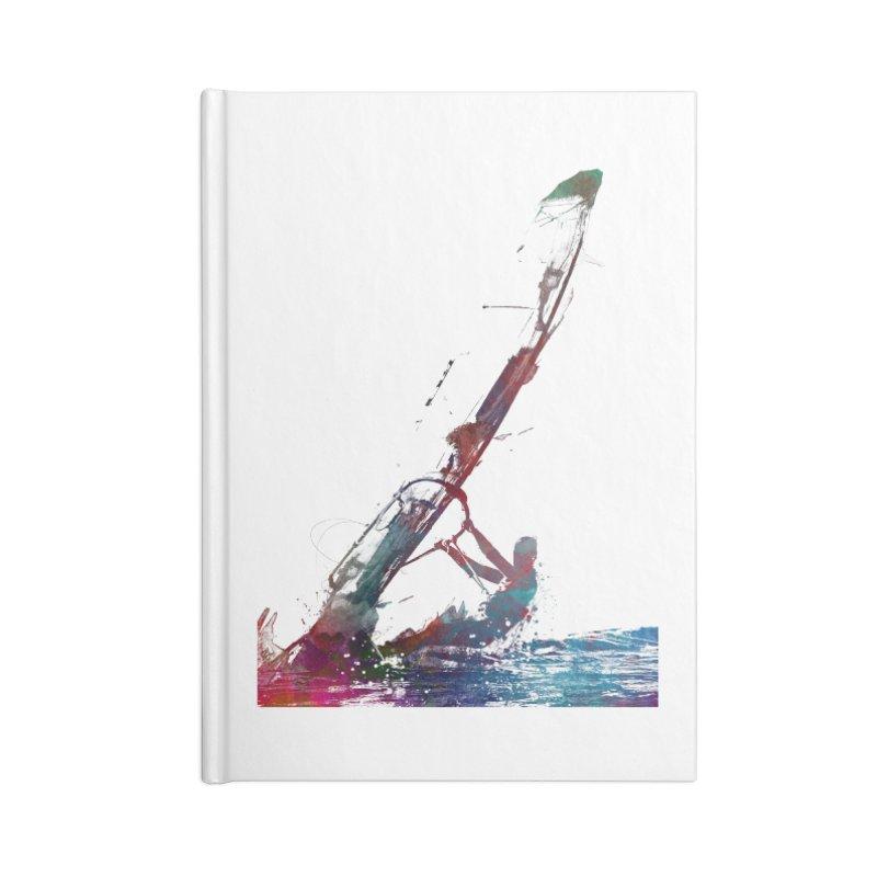 windsurfing sport art #windsurfing #sport Accessories Lined Journal Notebook by jbjart Artist Shop