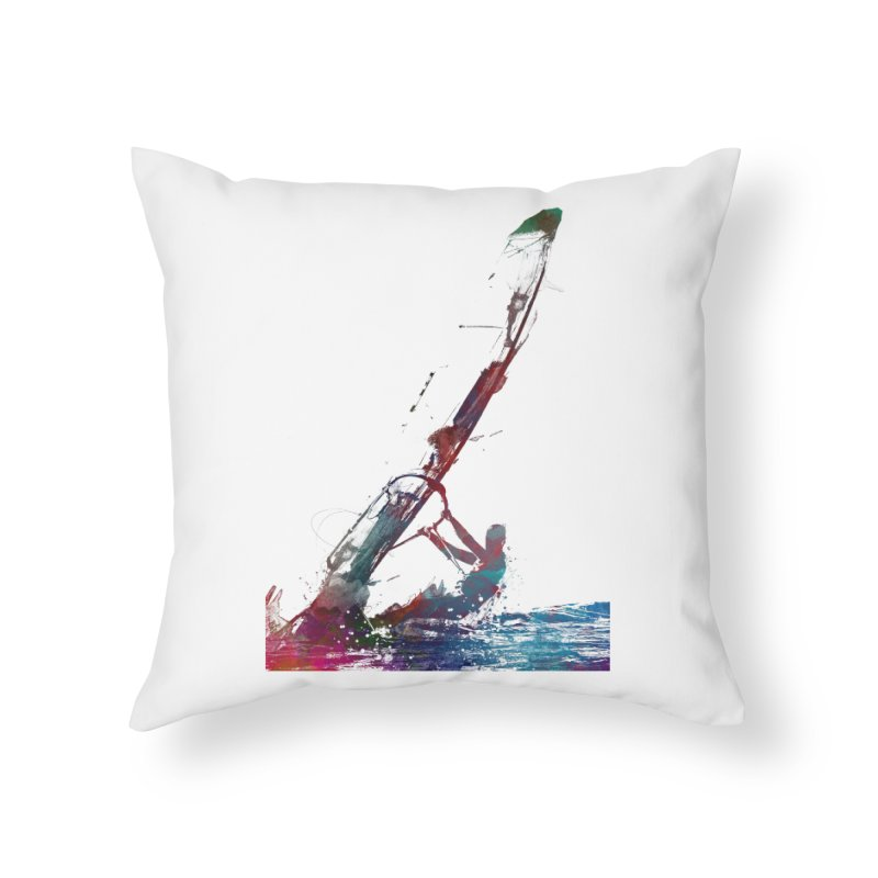 windsurfing sport art #windsurfing #sport Home Throw Pillow by jbjart Artist Shop