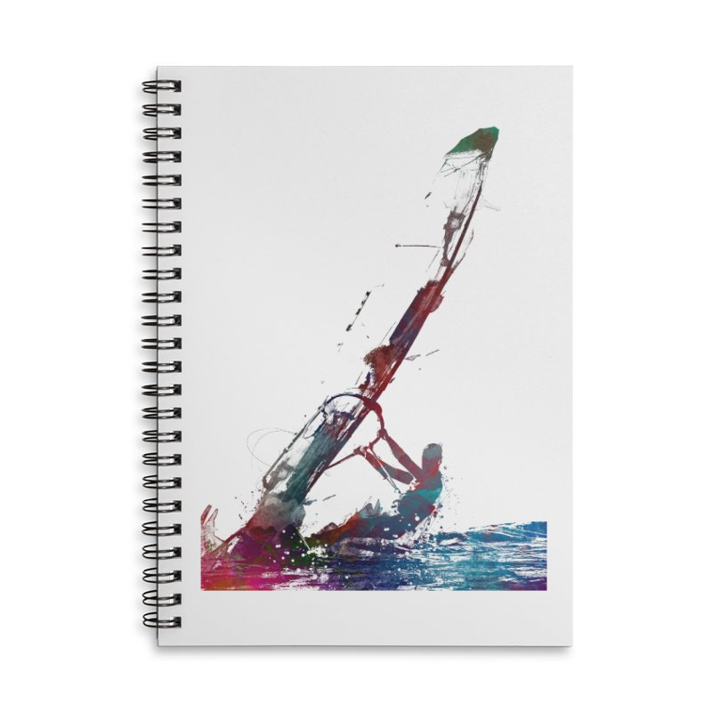 windsurfing sport art #windsurfing #sport Accessories Notebook by jbjart Artist Shop