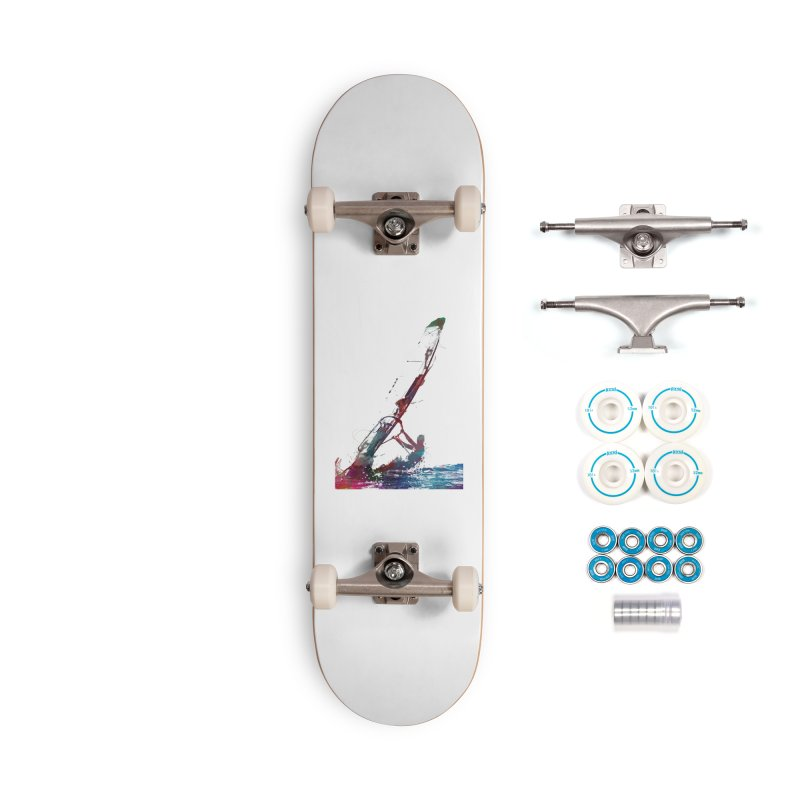 windsurfing sport art #windsurfing #sport Accessories Skateboard by jbjart Artist Shop