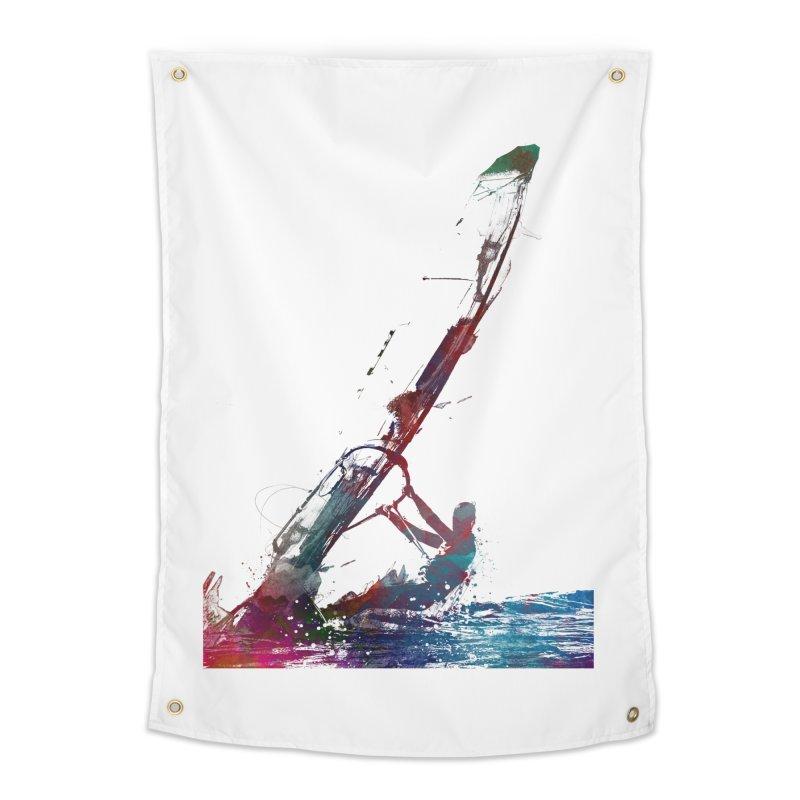 windsurfing sport art #windsurfing #sport Home Tapestry by jbjart Artist Shop