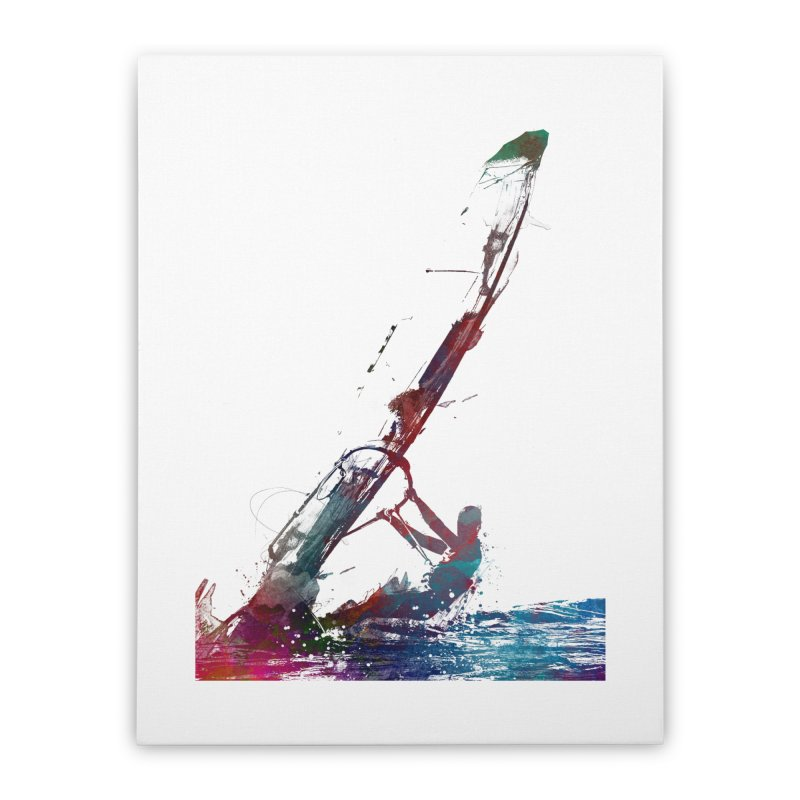 windsurfing sport art #windsurfing #sport Home Stretched Canvas by jbjart Artist Shop