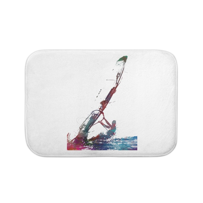 windsurfing sport art #windsurfing #sport Home Bath Mat by jbjart Artist Shop