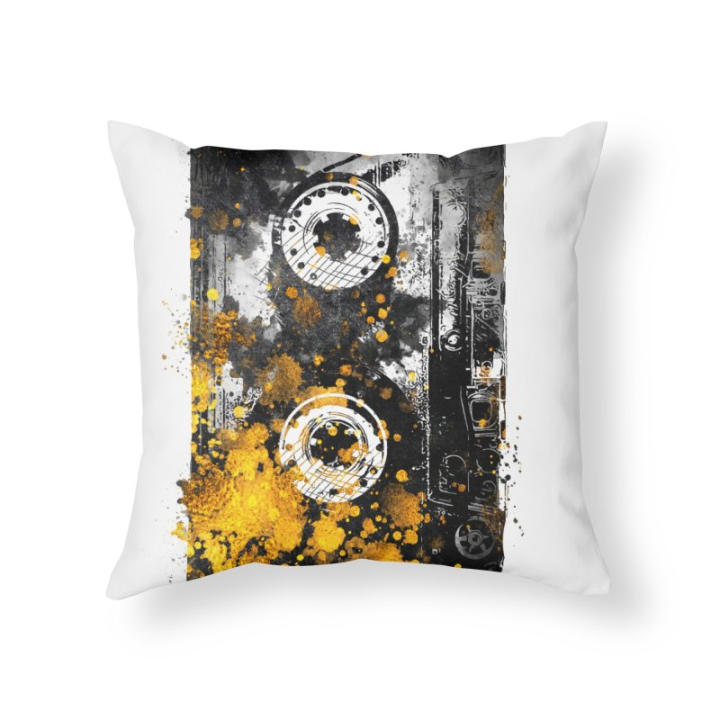 Music tape #music #tape Home Throw Pillow by jbjart Artist Shop