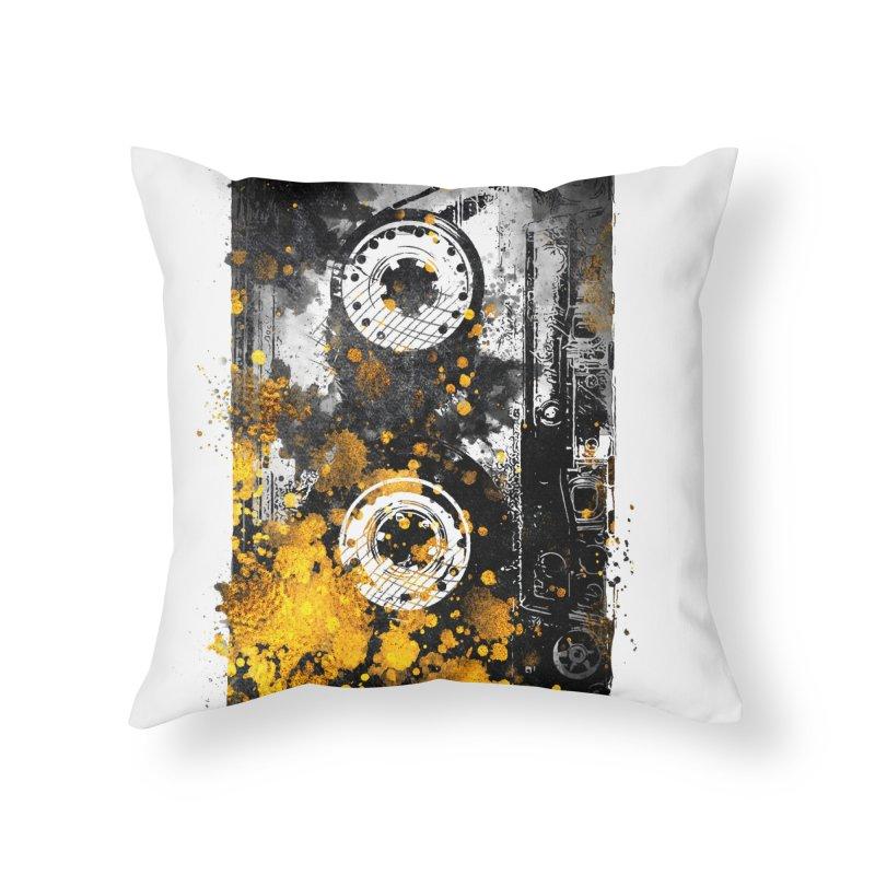 Music tape #music #tape Home Throw Pillow by jbjart Artist Shop