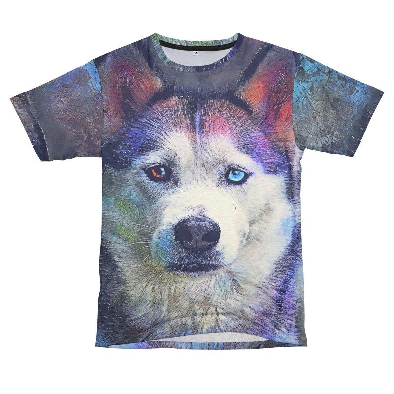 dog husky Women's Cut & Sew by jbjart Artist Shop