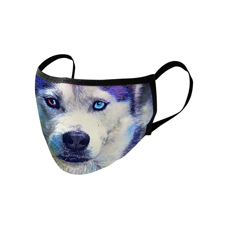 dog husky Accessories Face Mask by jbjart Artist Shop