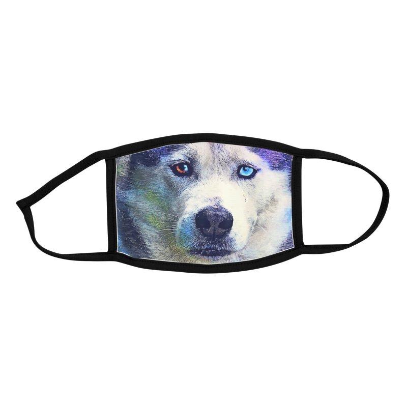 dog husky Accessories Face Mask by jbjart Artist Shop