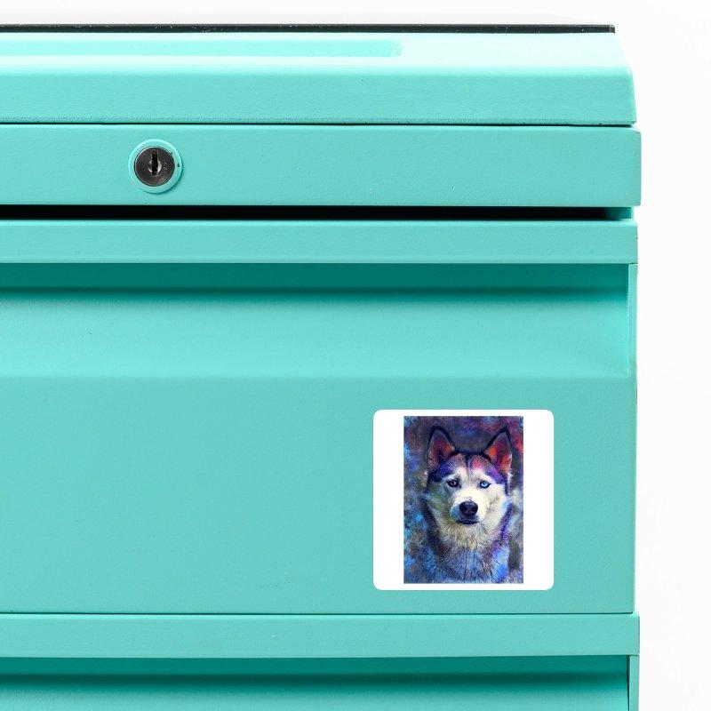dog husky Accessories Magnet by jbjart Artist Shop