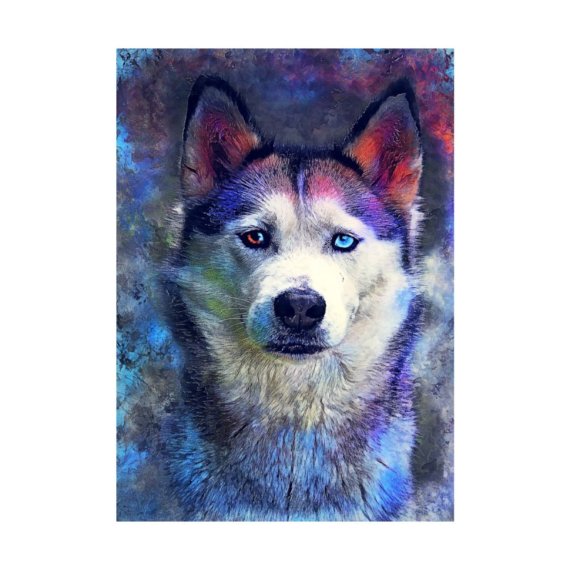 dog husky Accessories Skateboard by jbjart Artist Shop