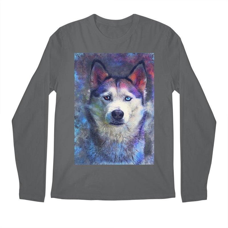 dog husky Men's Longsleeve T-Shirt by jbjart Artist Shop