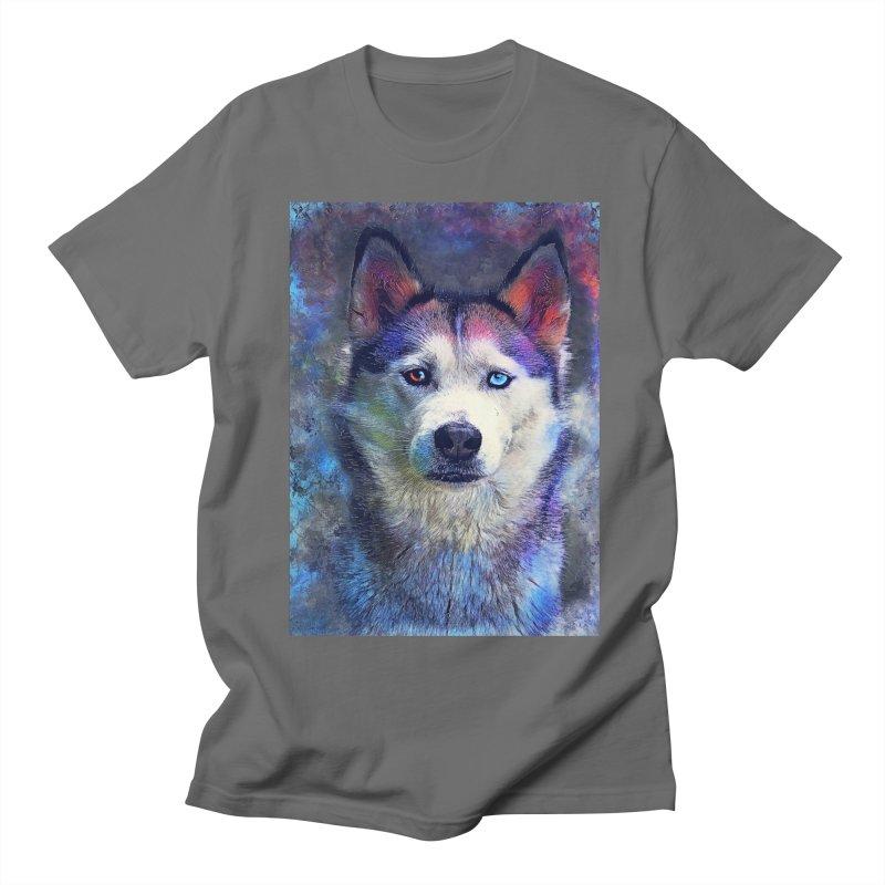 dog husky Women's T-Shirt by jbjart Artist Shop
