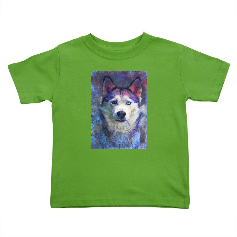 dog husky Kids Toddler T-Shirt by jbjart Artist Shop