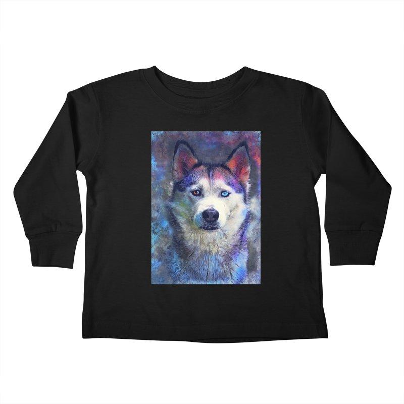dog husky Kids Toddler Longsleeve T-Shirt by jbjart Artist Shop