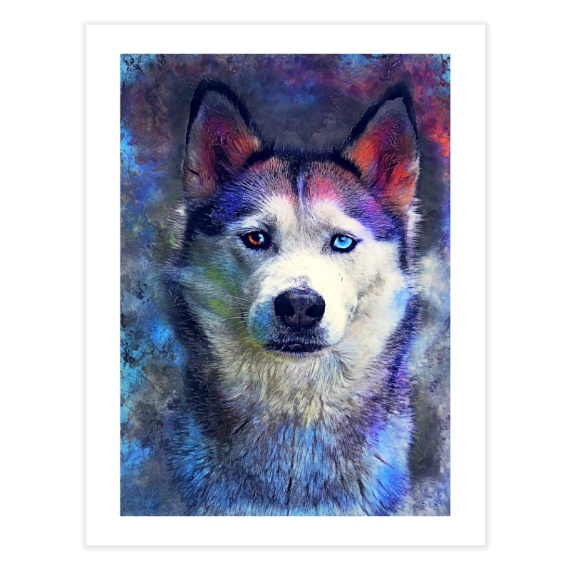 dog husky Home Fine Art Print by jbjart Artist Shop
