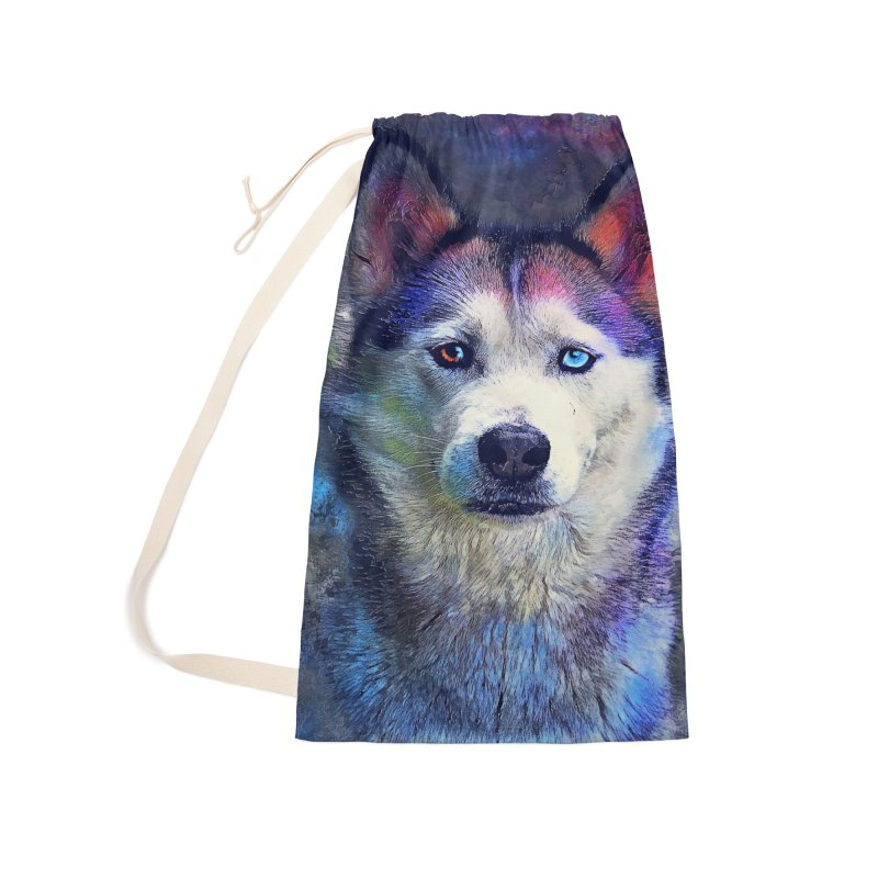 dog husky Accessories Bag by jbjart Artist Shop