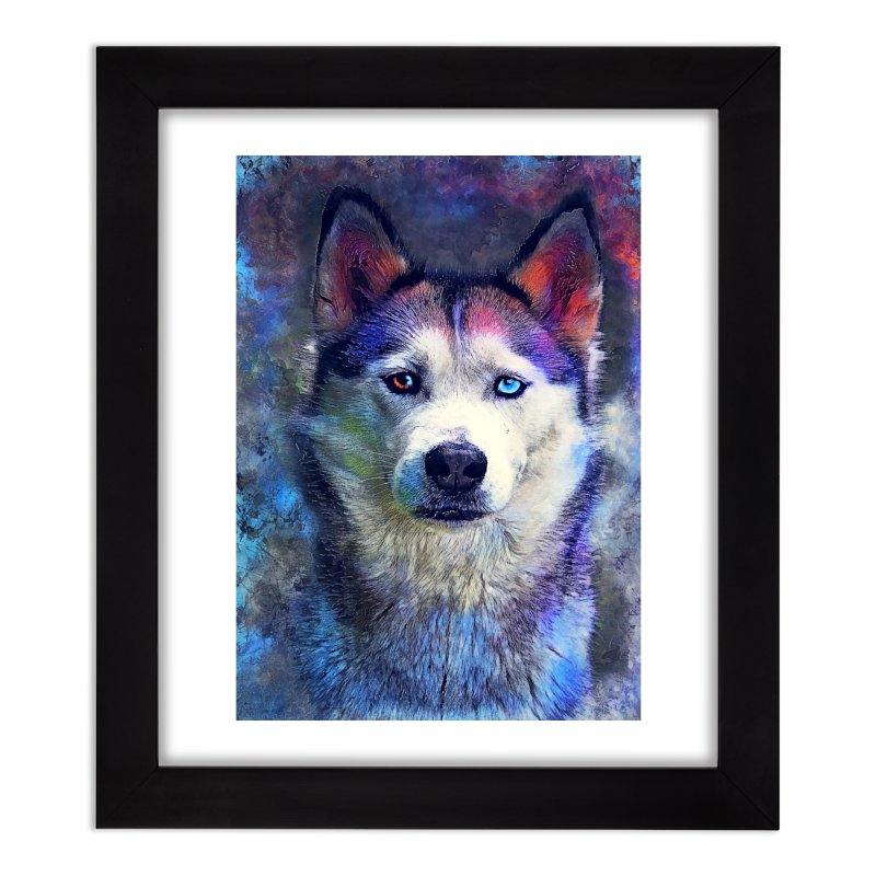 dog husky Home Framed Fine Art Print by jbjart Artist Shop