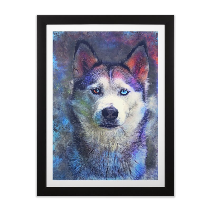 dog husky Home Framed Fine Art Print by jbjart Artist Shop