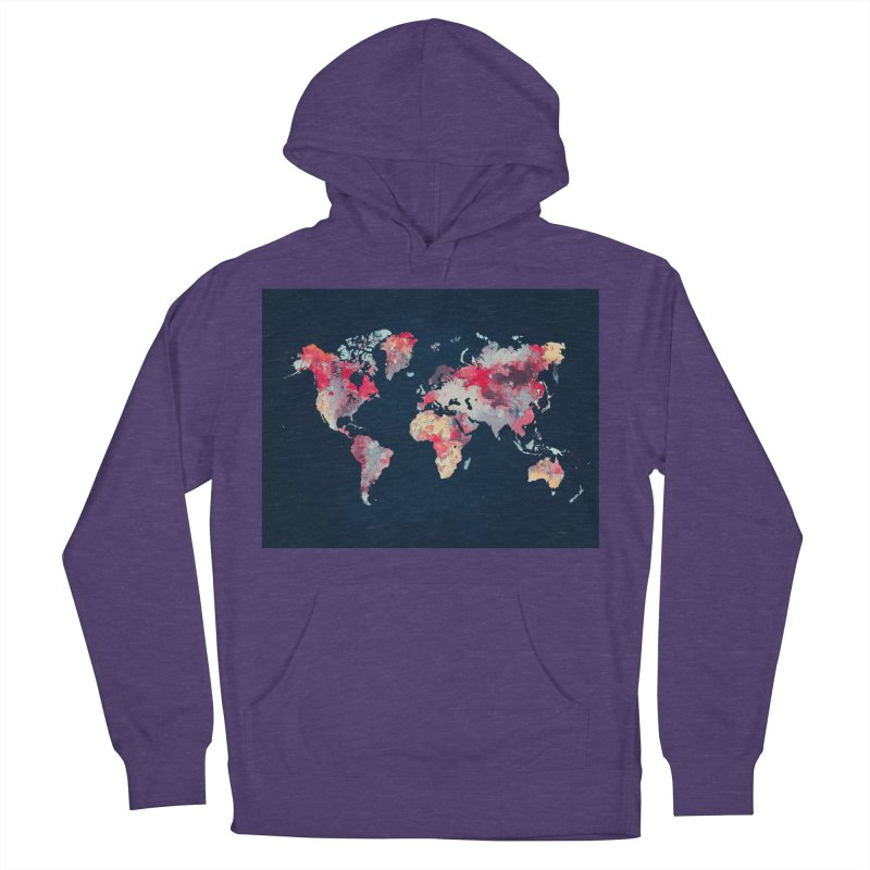 world map 2  Men's French Terry Pullover Hoody by jbjart Artist Shop