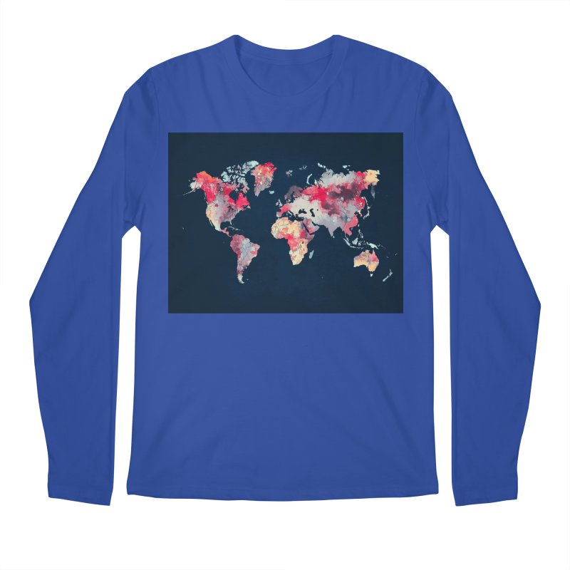 world map 2  Men's Regular Longsleeve T-Shirt by jbjart Artist Shop
