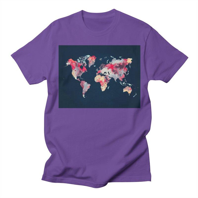world map 2  Women's Regular Unisex T-Shirt by jbjart Artist Shop