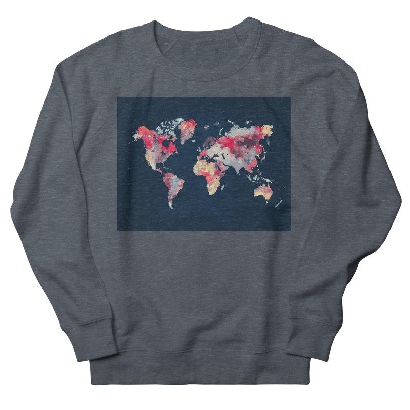 world map 2  Women's French Terry Sweatshirt by jbjart Artist Shop