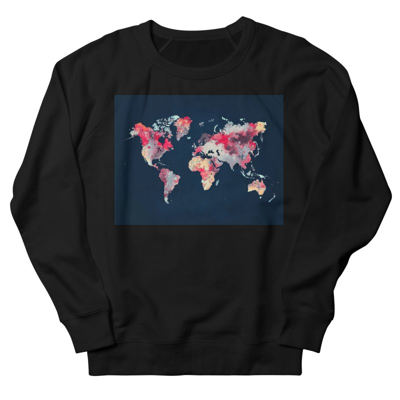 world map 2  Women's French Terry Sweatshirt by jbjart Artist Shop