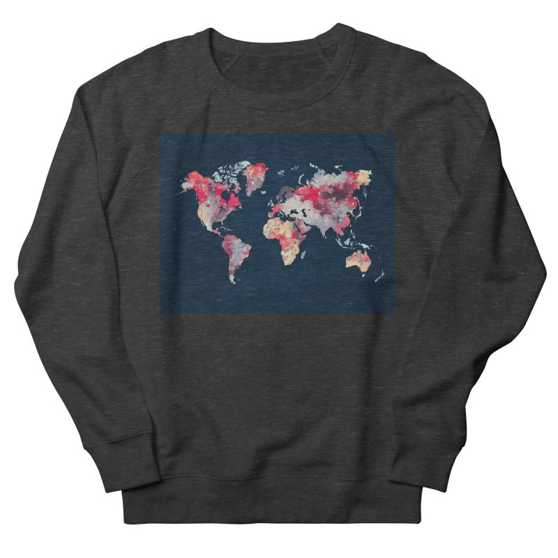 world map 2  Men's French Terry Sweatshirt by jbjart Artist Shop