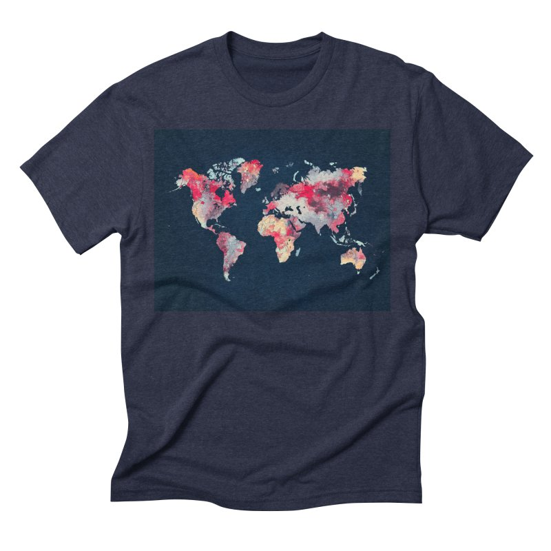 world map 2  Men's Triblend T-Shirt by jbjart Artist Shop