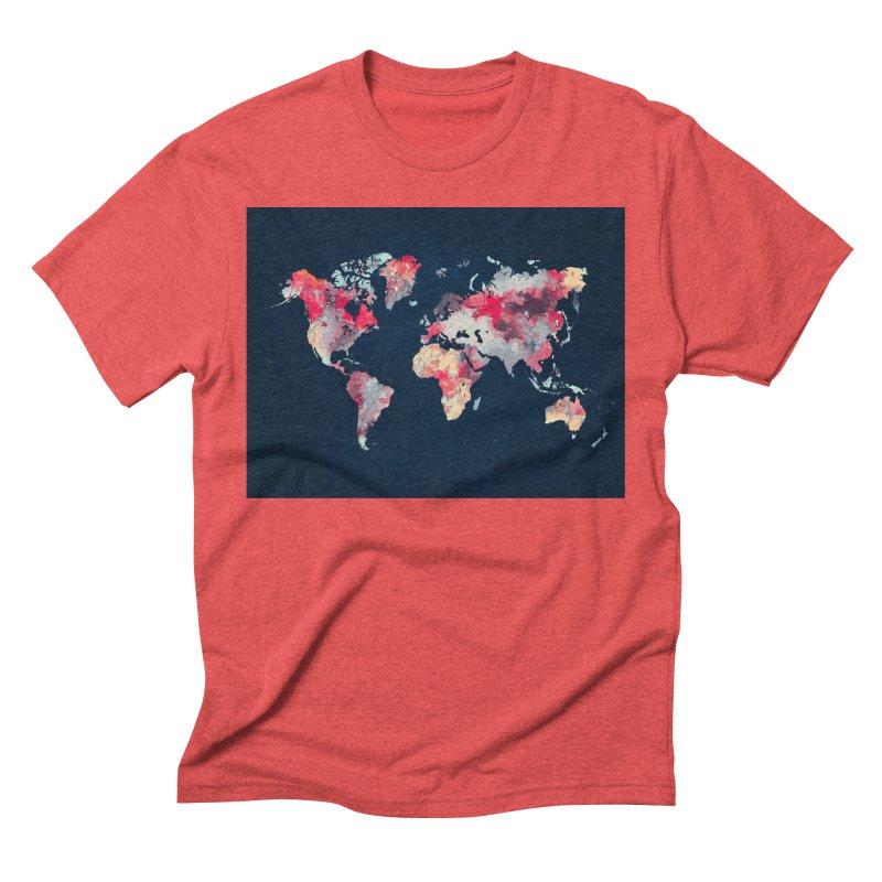 world map 2  Men's Triblend T-Shirt by jbjart Artist Shop