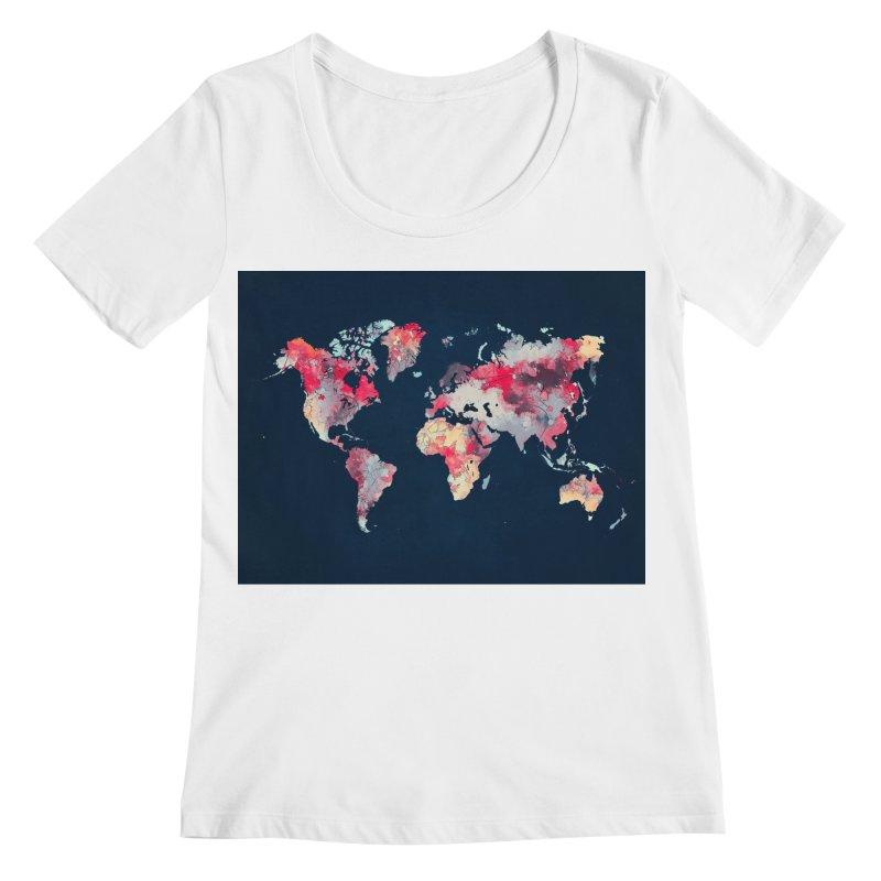 world map 2  Women's Regular Scoop Neck by jbjart Artist Shop