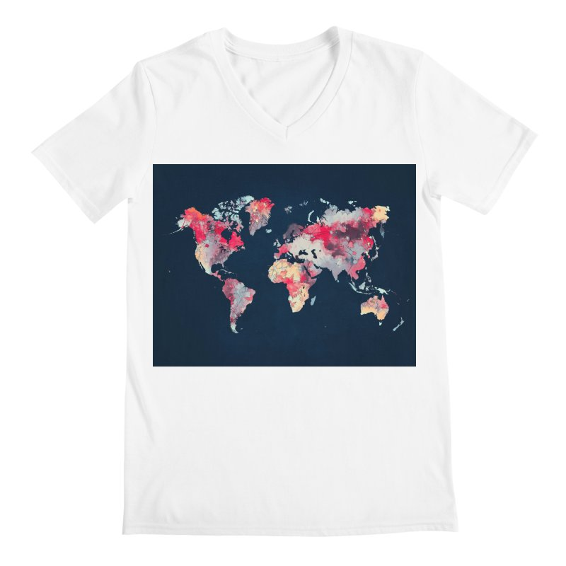 world map 2  Men's V-Neck by jbjart Artist Shop
