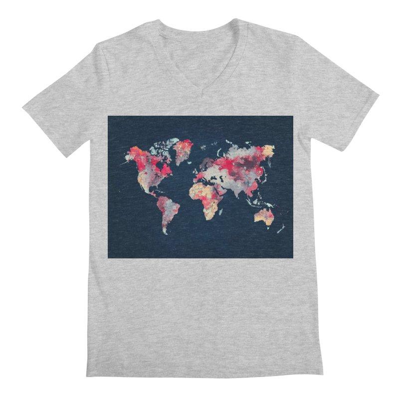 world map 2  Men's Regular V-Neck by jbjart Artist Shop