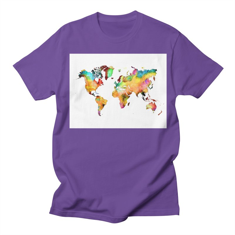 world map 3 Men's Regular T-Shirt by jbjart Artist Shop