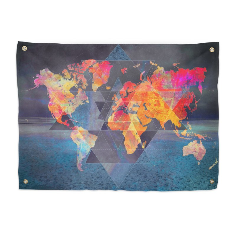 world map 6 in Tapestry by jbjart Artist Shop