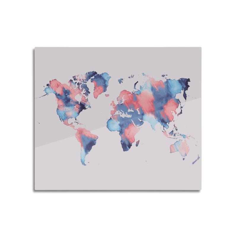 world map 7 in Mounted Aluminum Print by jbjart Artist Shop