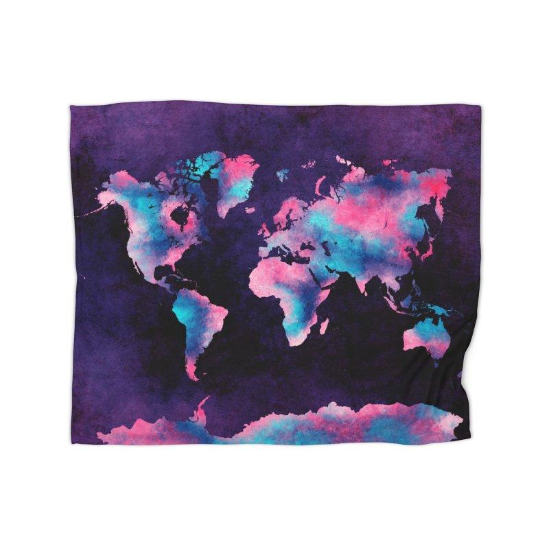 world map 8 in Fleece Blanket Blanket by jbjart Artist Shop