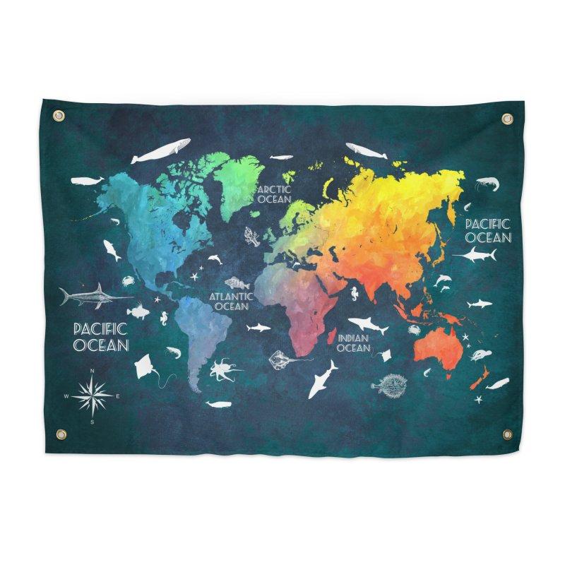 world map colors 10 in Tapestry by jbjart Artist Shop