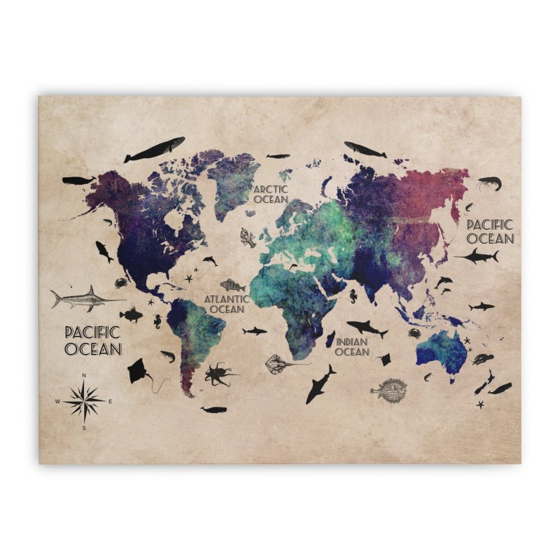 world map 11 in Stretched Canvas by jbjart Artist Shop