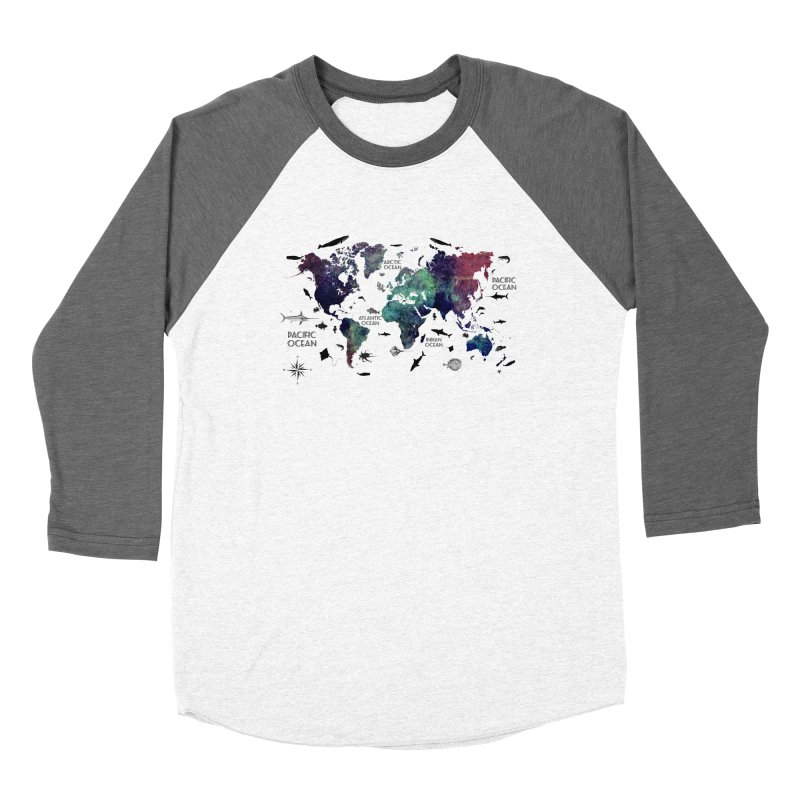 world map 12 Women's Longsleeve T-Shirt by jbjart Artist Shop